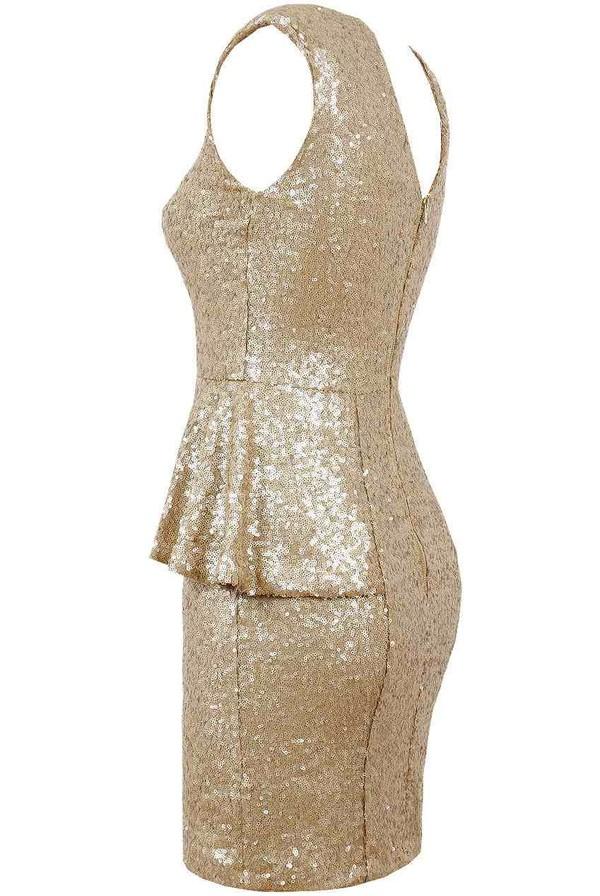 dress gold sequins boutique online sale essex purple rose sparkle glitter party sexy