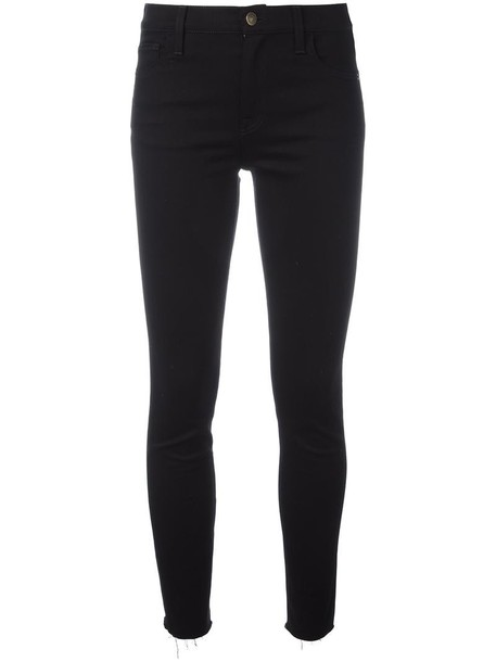 gucci jeans skinny jeans embroidered women spandex cotton black