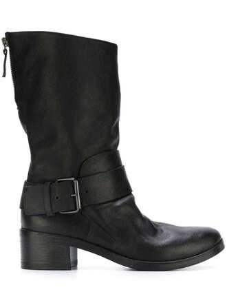 zip boots black shoes
