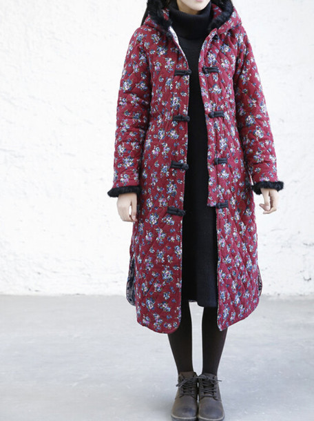 jacket floral padded coat