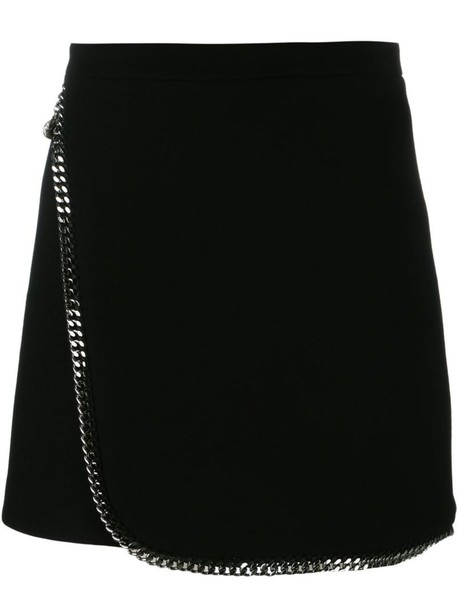 Stella McCartney skirt mini skirt mini women cotton black wool