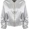 Silver spring ma1 satin bomber jacket