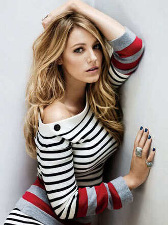 blake lively striped sweater