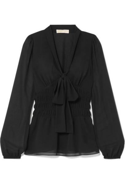 MICHAEL Michael Kors blouse bow black top