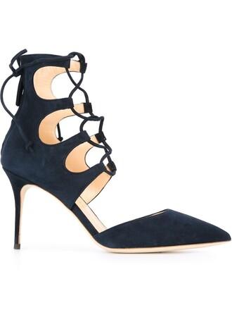 pumps lace blue shoes