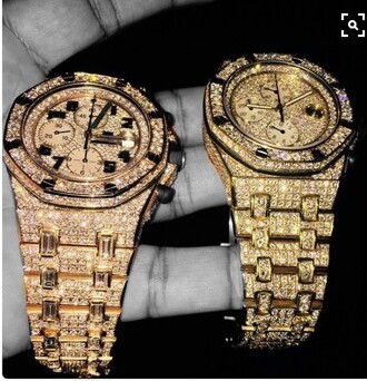 jewels gold sequins rose gold watch sparkle diamonds accessories