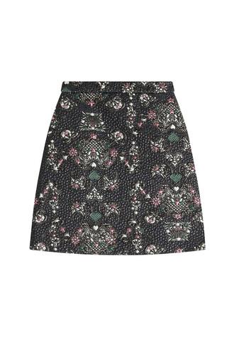 skirt mini skirt mini jacquard multicolor