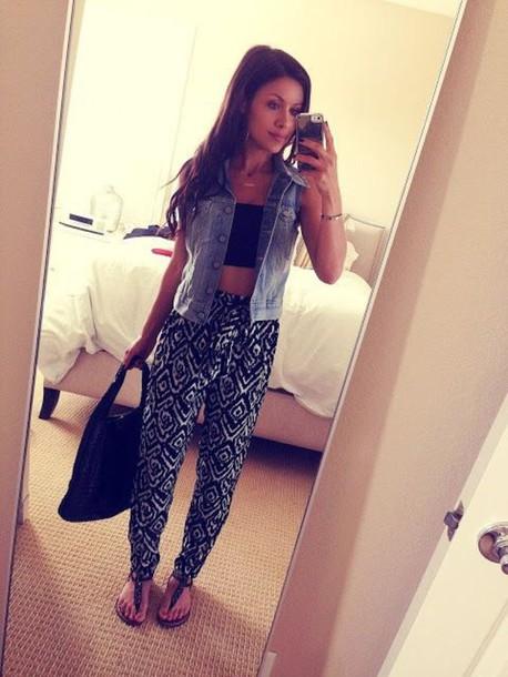 leggings black and white