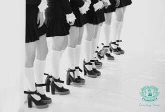 shoes celebrity mary jane black heels high-heels shoes white high heels kpop idol kpop