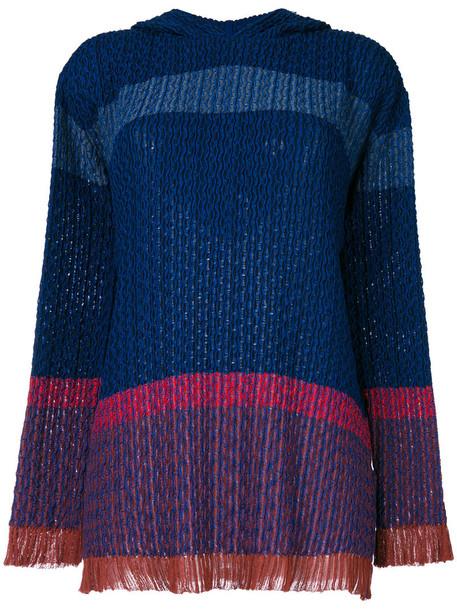 Stella McCartney sweater women cotton blue wool