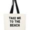 Take me to the beach crystal tote