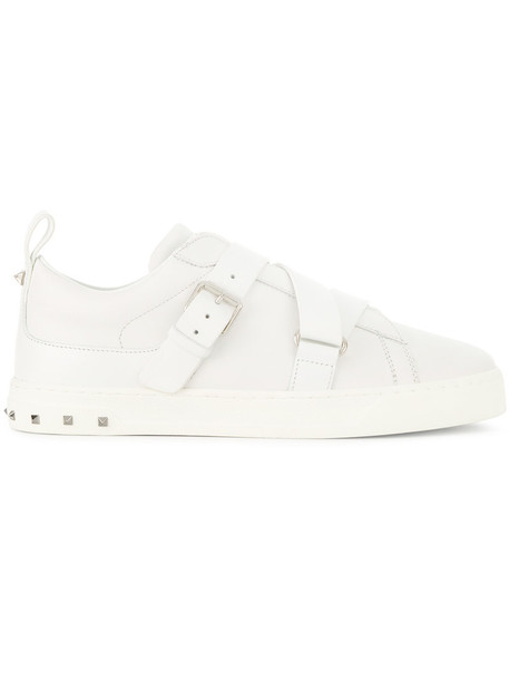 Valentino punk women sneakers leather white shoes