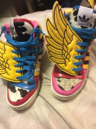 f623d263f1c2 Adidas Jeremy Scott Wings Rainbow 100 Authentic Size 4 5