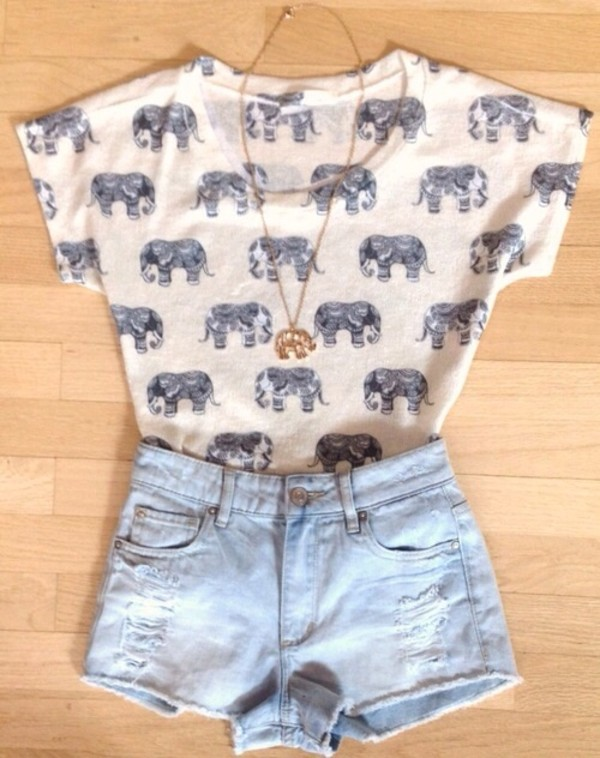 shirt elephant shorts t-shirt elephant