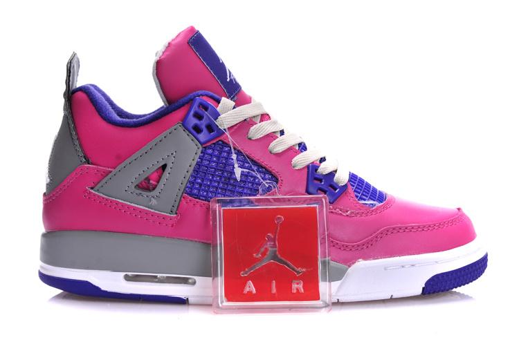 Cheap Air Jordan 4 Retro GS Pink Purple Grey for Sale