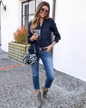 jeans,straight jeans,boots,belt,shirt,bag,sunglasses,chain necklace