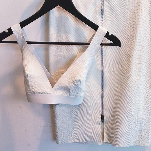 snake print white dress white midi skirt white bralette shirt skirt white crop tops crocodile print white snake print white shirt