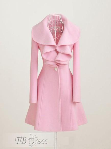 ruffles coat pink pink coat ruffled ruffle