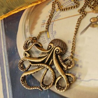 jewels rose wholesale octopus necklace fashion trendy cute