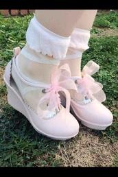 shoes,pink,cute,kawaii