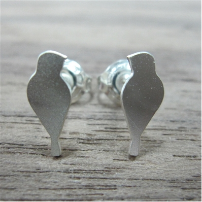 ShlomitOfir - Tiny Bird Post Earrings