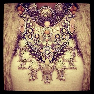 jewels necklace big necklace collier bijoux