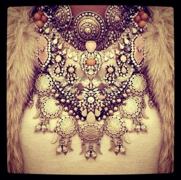 jewels necklace big necklace jewelry collier bijoux