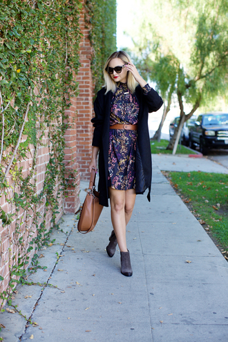 late afternoon blogger dress coat jewels