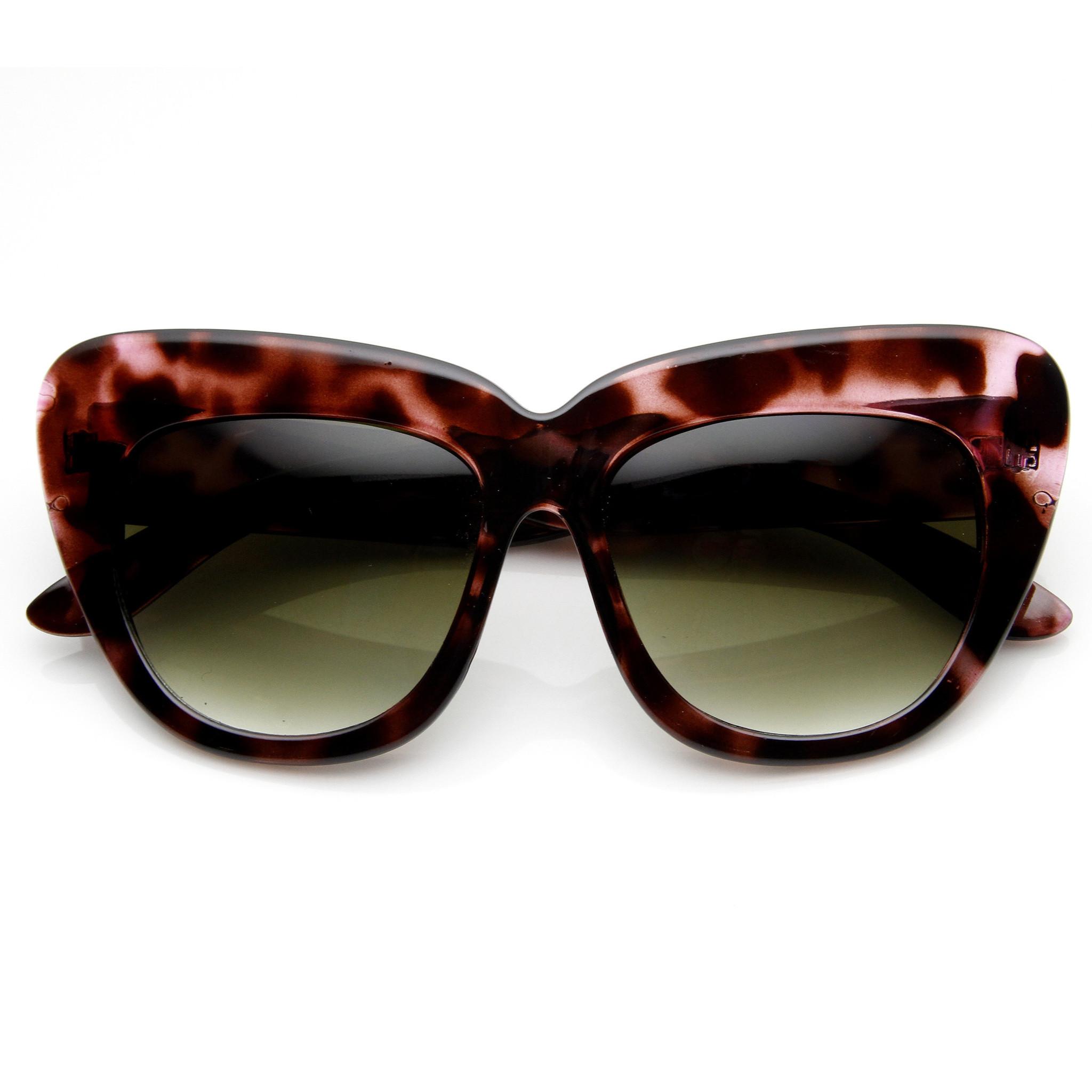 Designer fashion oversize cat eye sunglasses 8300