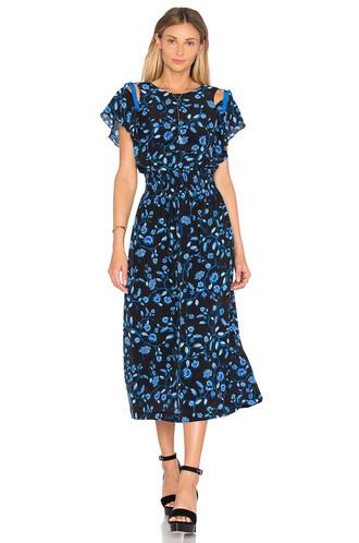 dress midi dress open midi black