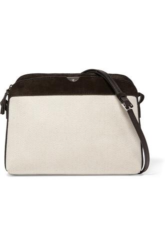 bag shoulder bag suede cream