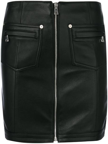 Manokhi skirt mini skirt mini women leather black