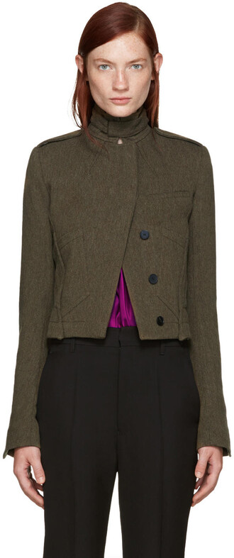 jacket pocket jacket khaki
