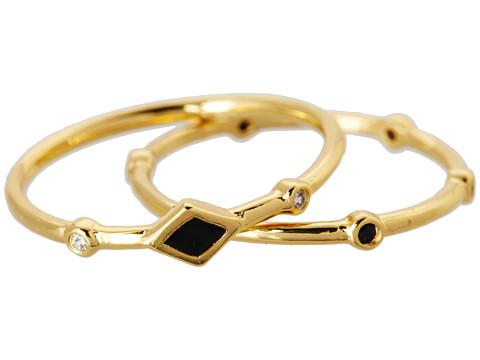 gorjana Mae Shimmer Midi Ring Set Gold - Zappos.com Free Shipping BOTH Ways