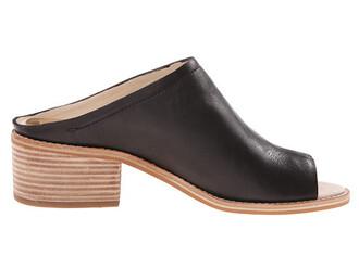 shoes mules stacked wood heel heels