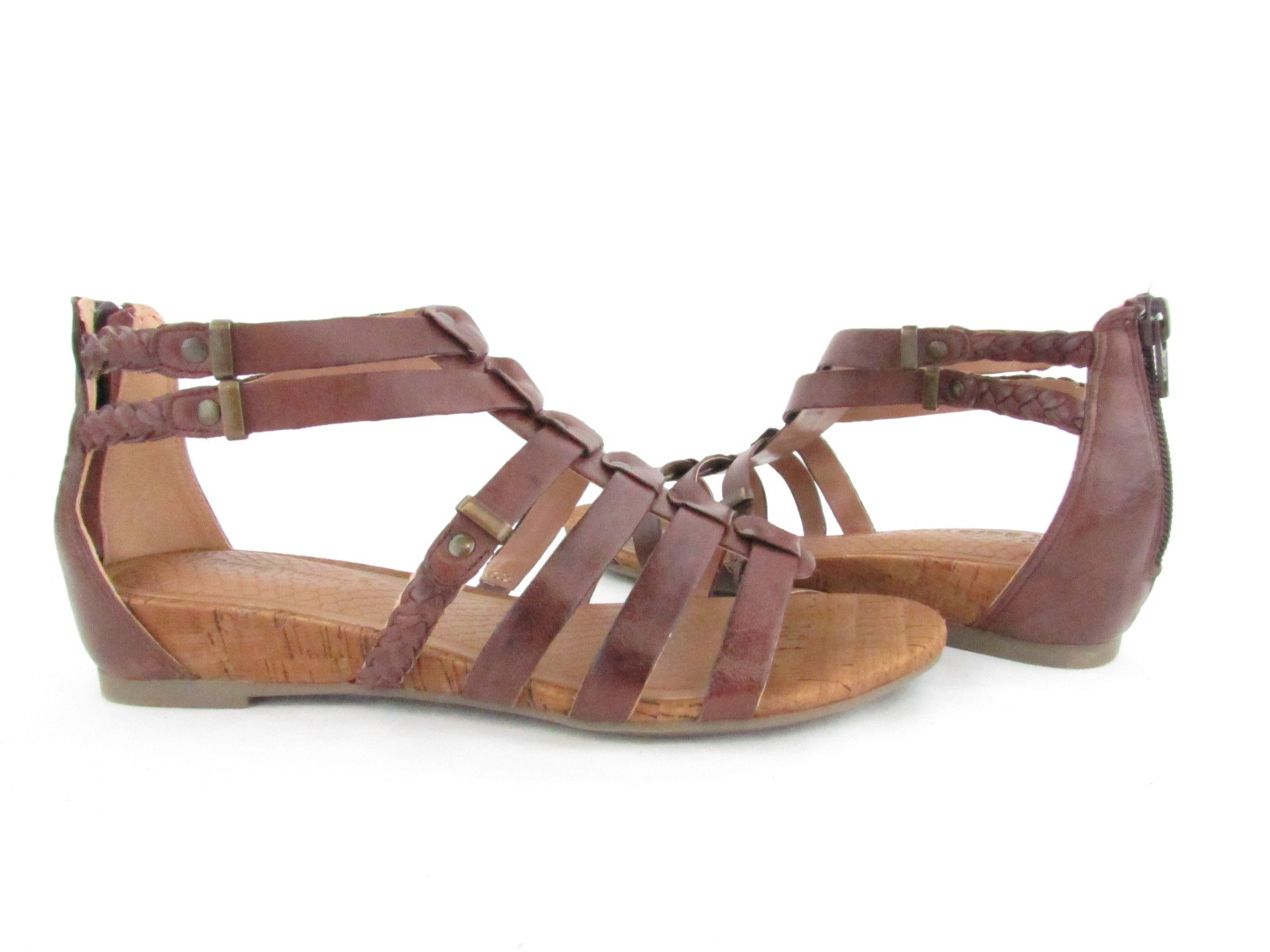 BareTraps Gweneth Womens Size 6 5M Brown Open Toe Leather Gladiator Sandals New | eBay