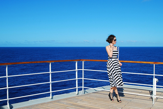 shiny sil blogger dress striped dress bustier dress strappy sandals