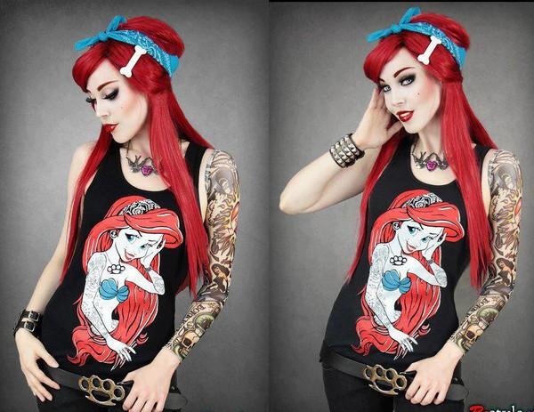 Restyle Ariel Rebel Mermaid Vest Top