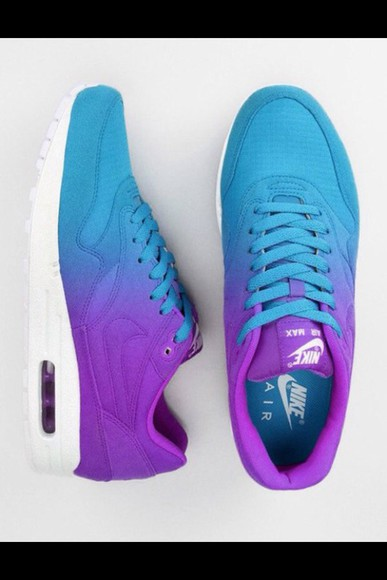 shoes purple ombre electric light tennis shoes laces