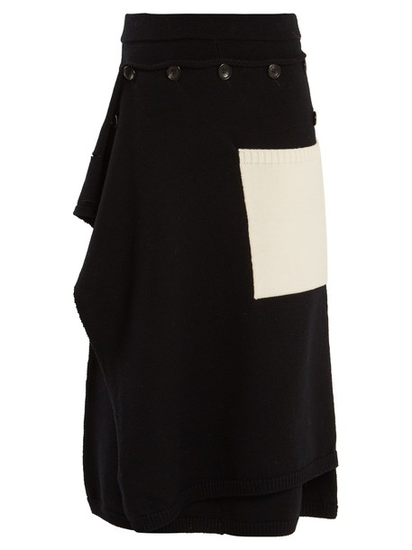 Joseph skirt midi skirt midi wool white black