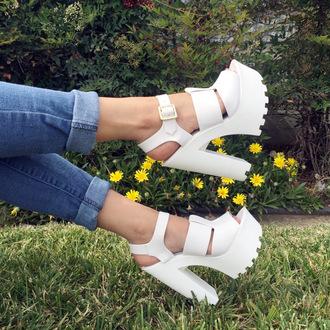shoes cicihot heels fashion boho chic girly lugsole high heels