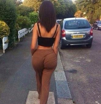 pants caramel nude tight