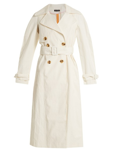 ANNA OCTOBER coat trench coat white