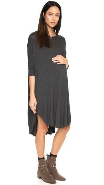 Hatch The Jersey Drape Dress - Charcoal
