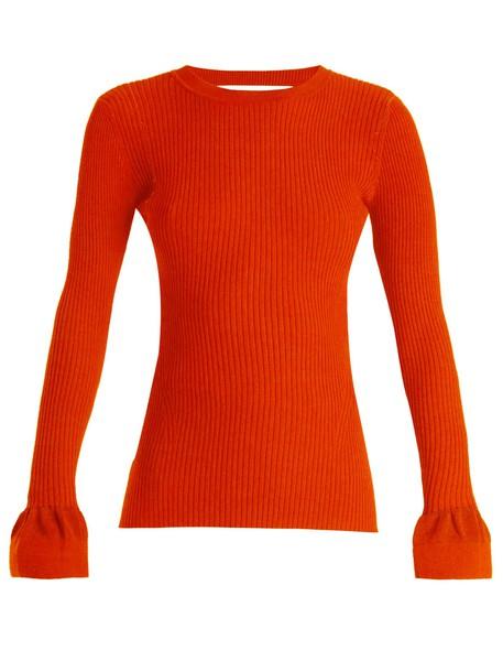 Diane Von Furstenberg sweater cotton orange