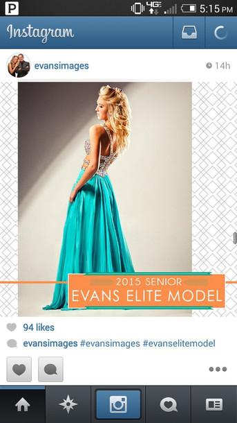 dress teal dress long prom dress prom dress