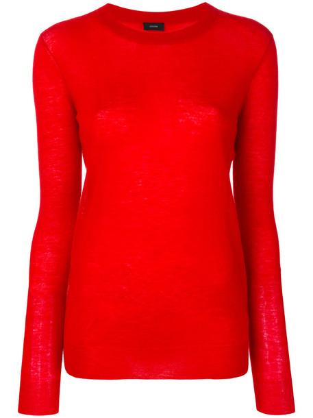 sweatshirt women red sweater