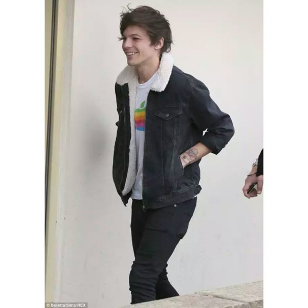 t-shirt louis tomlinson one direction apple