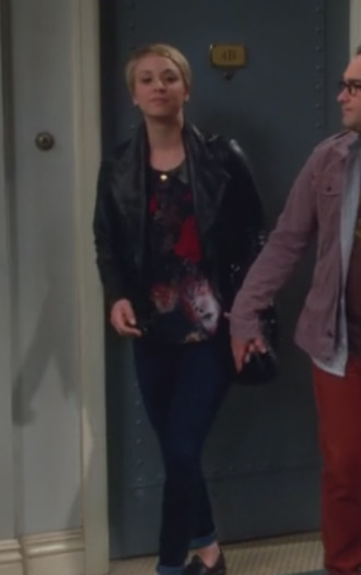 jacket big bang theory kaley cuoco leather jacket top