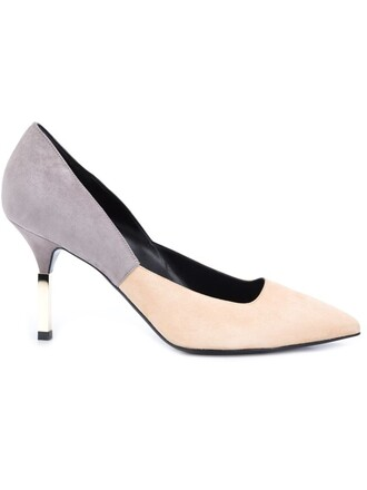 women pumps nude suede shoes